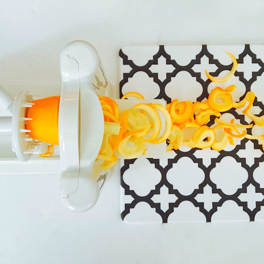 Paderno Spiralizer with yellow squash