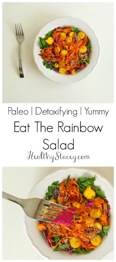 Eat The Rainbow Salad Pin