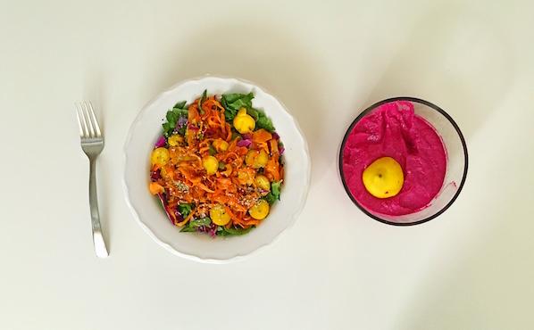 Rainbow paleo salad
